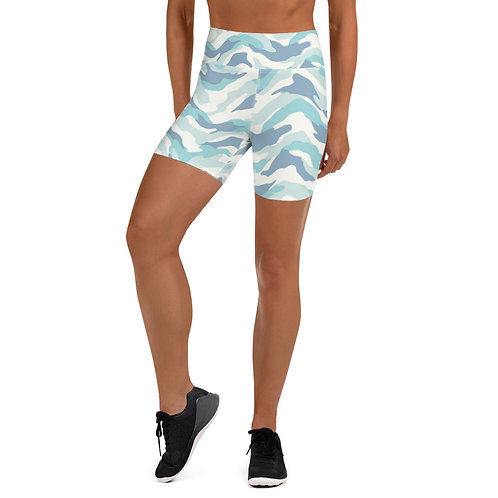 Daves Gym Womens Baby Blue Camo Training Shorts