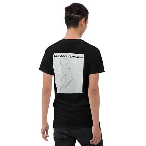 'Dave Goes Commando' Mens T-Shirt
