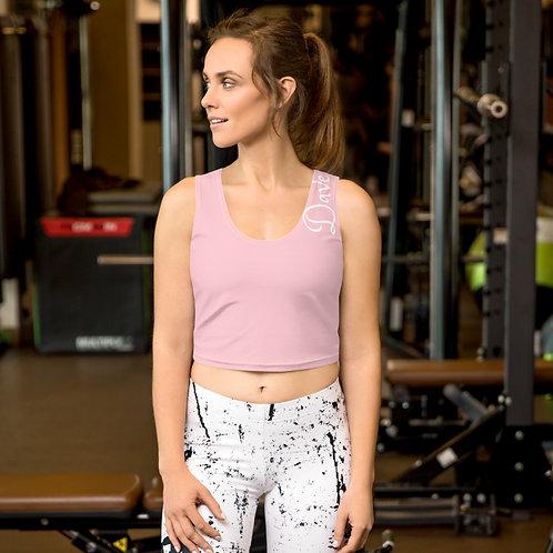 Daves Gym Baby Pink Womens Crop Vest