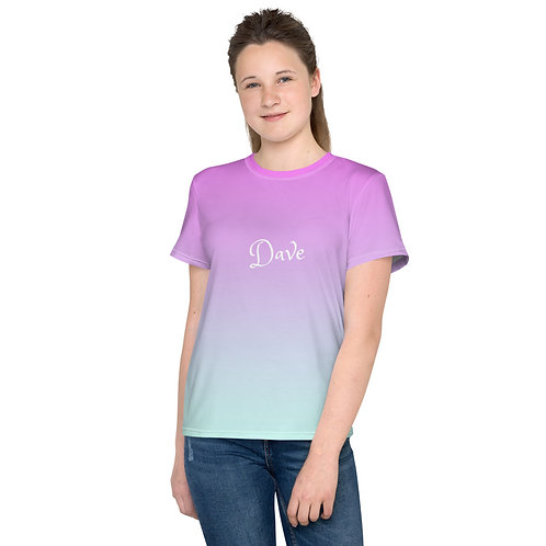 Dave Pink to Blue Fade Kids T-Shirt