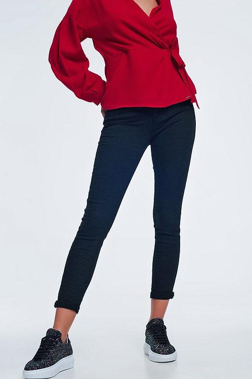 High Waist Skinny Jeans in Black