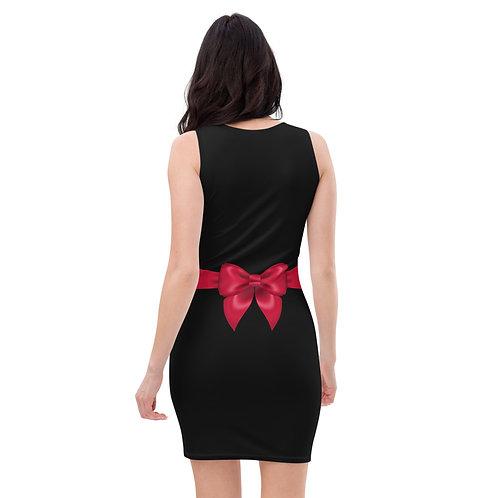 Dave Little Black Un-Tie Me Fitted Dress