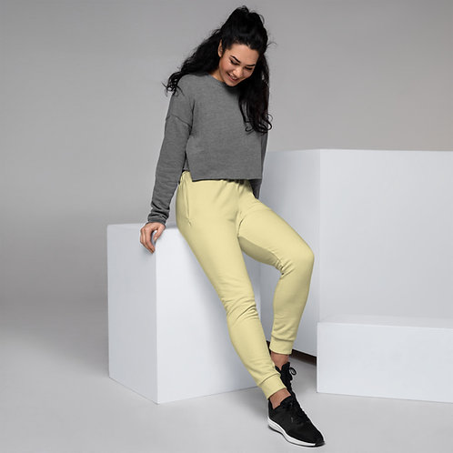 Dave Womens Pastel Yellow Joggers