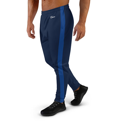 Dave Navy with Blue Stripe Mens Joggers