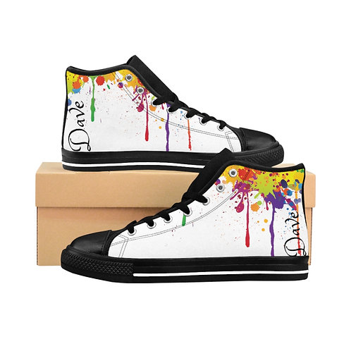 Dave Men's Paint Drip High-top Sneakers