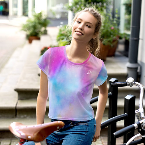 Daves Tie Dye Cropped Womens T-Shirt
