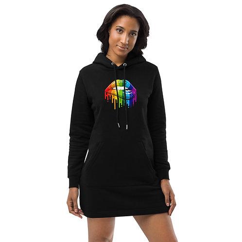 Dave Pride Black Hoodie Dress