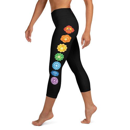 Dave x Gifted Girl Yoga Capri Black Leggings