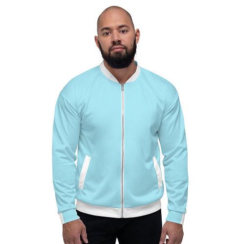 Dave Baby Blue Mens Bomber Jacket