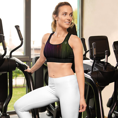 Daves Gym Womens Coloured Matrix Sports Bra