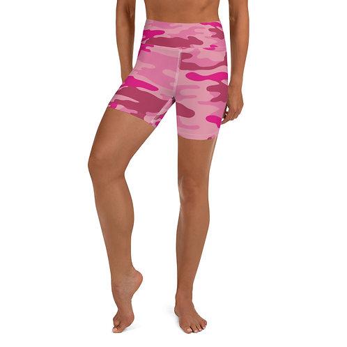 Daves Gym Womens Pink Camo Training Shorts