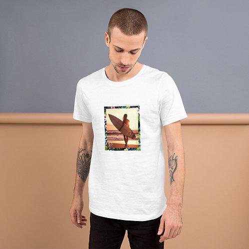 Dave Sunset Surf Girl Mens T-Shirt