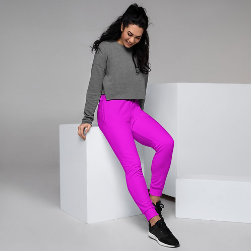 Dave Neon Pink Womens Joggers