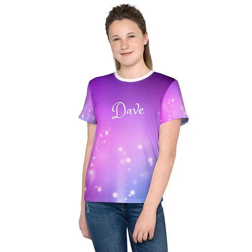 Dave Purple Lights Kids T-Shirt