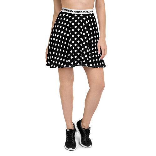 Daves Black and White Polka Skater Skirt