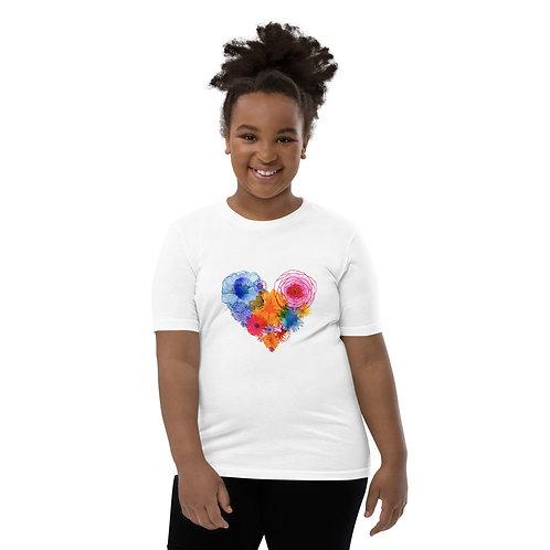 Dave Floral Heart Kids T-Shirt
