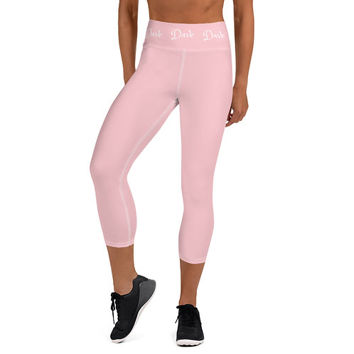 Daves Gym Baby Pink Dave Waistband Womens Leggings