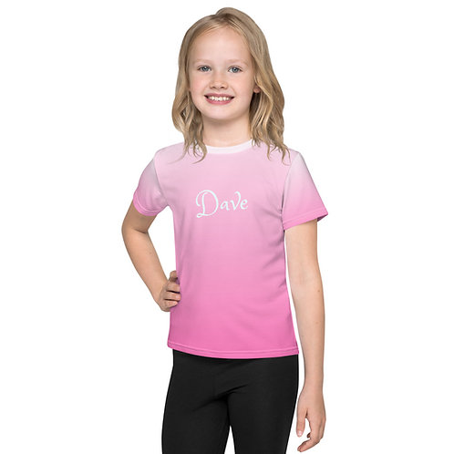Dave Pink Fade Kids T-Shirt