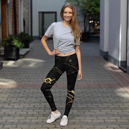 Daves Gym Black Marble Womens Leggings