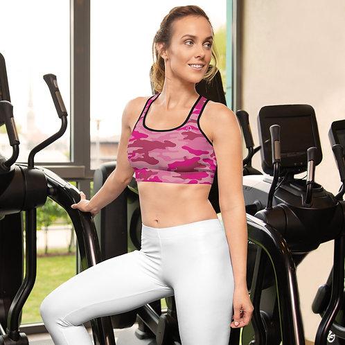 Daves Gym Womens Pink Camo Sports Bra