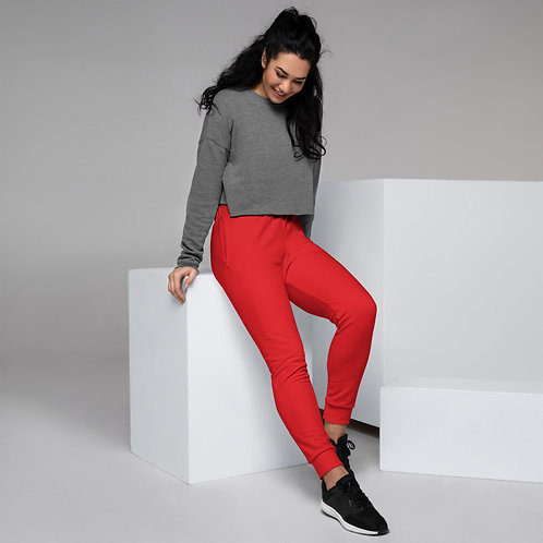 Dave Womens Red Joggers