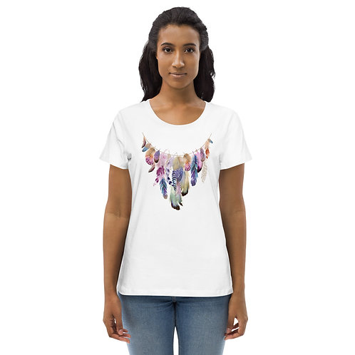 Daves Boho Featherneck Womens T-Shirt