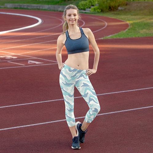 Daves Gym Womens Baby Blue Camo Leggings
