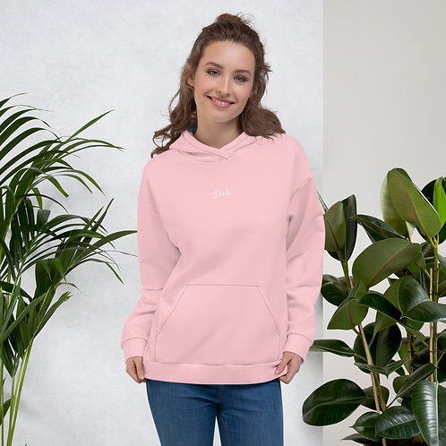 Dave Baby Pink Womens Hoodie