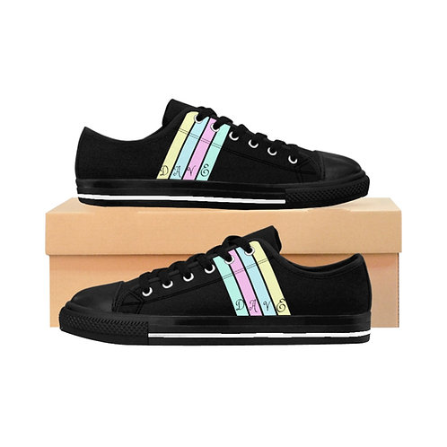 Dave Four Stripe Black Sneakers