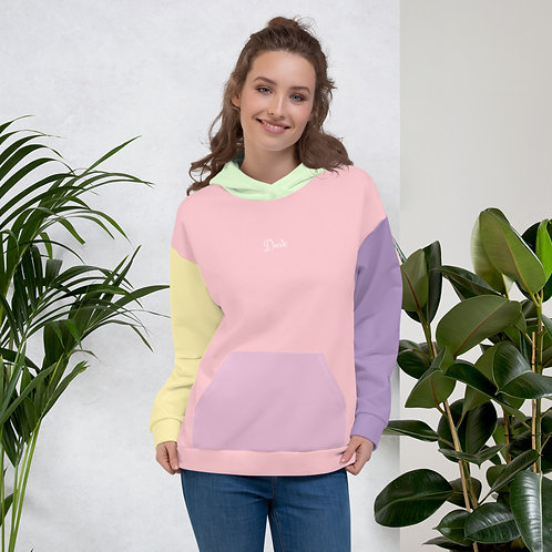 Dave Patchwork Womens Hoodie