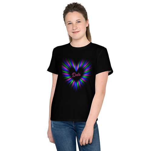 Dave Neon Heart Kids T-Shirt