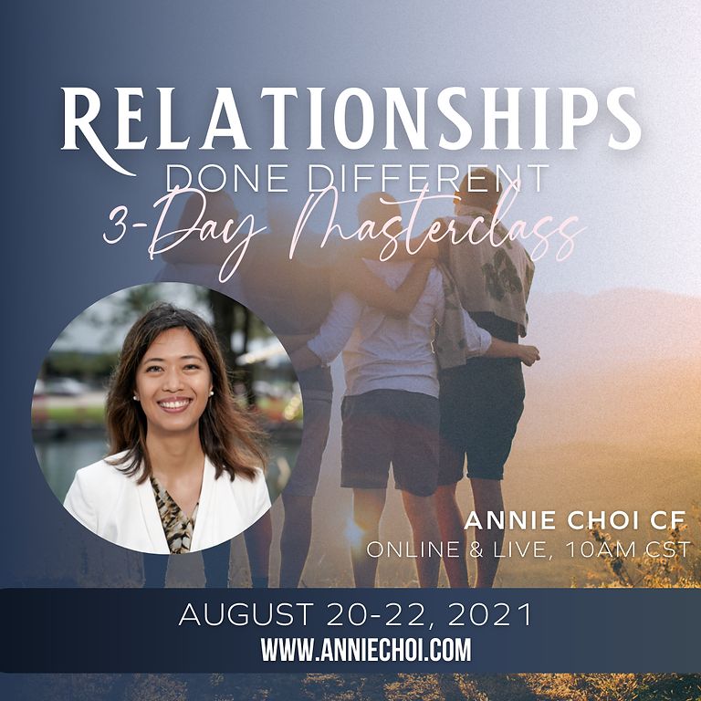 Relationships Done Different 3-Day Masterclass