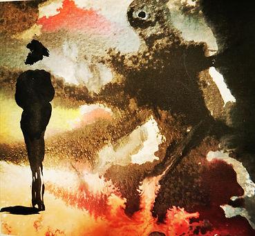 Coronavirus - the shadow and the woman (