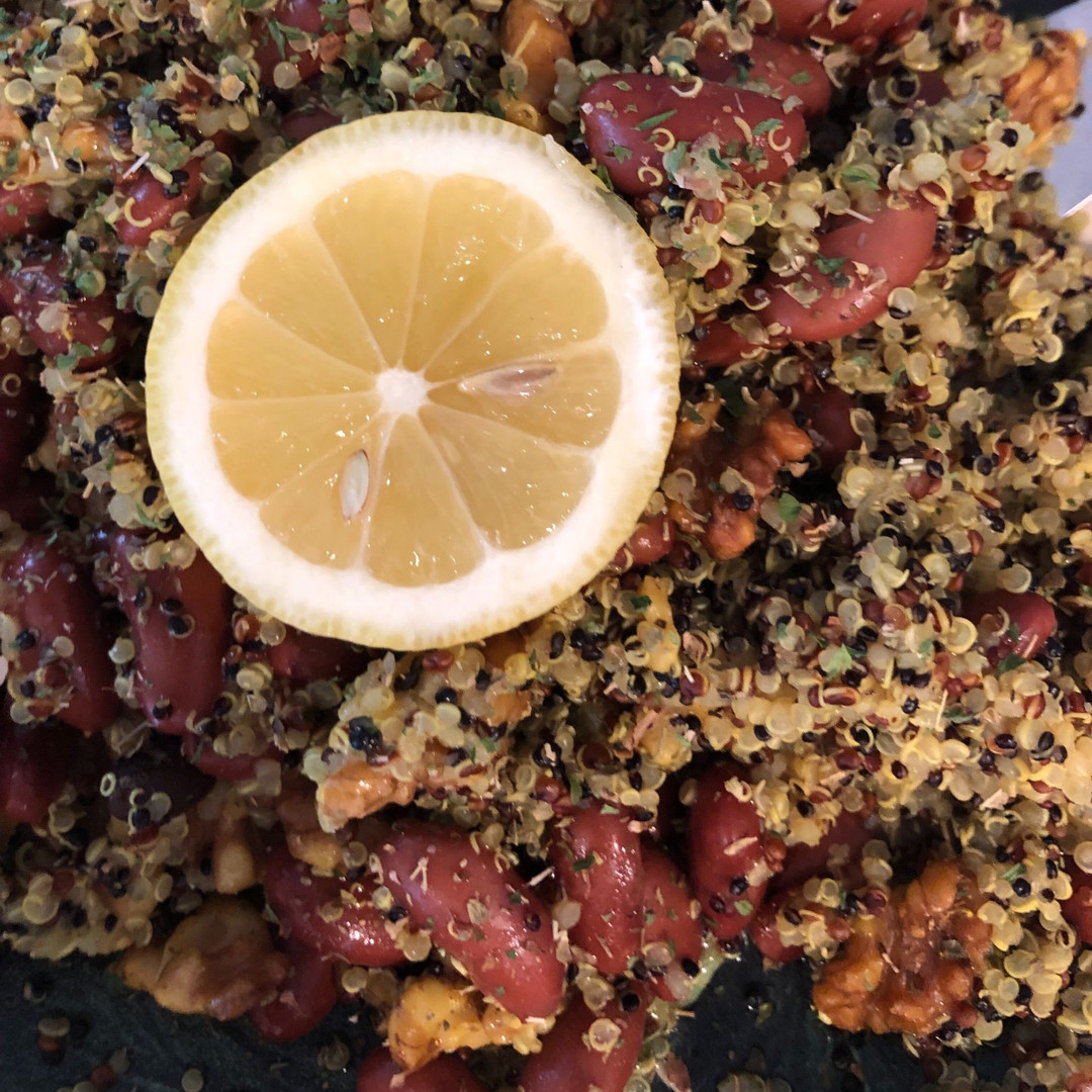 Quinoa Kidney Bean and Walnut Salad