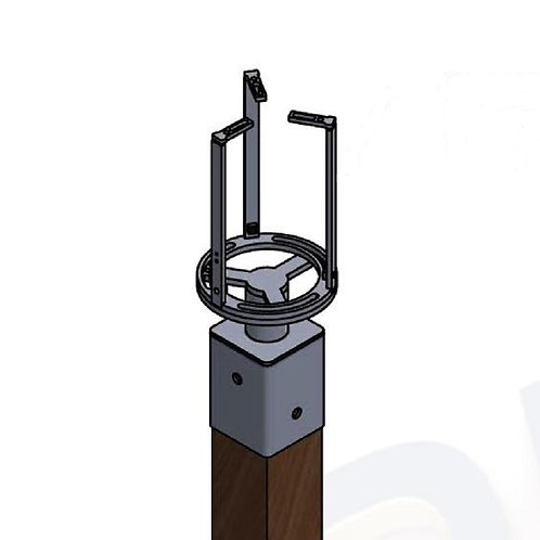 Wood Pole Bayonet Extension Mount with Sled