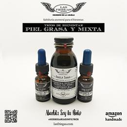 Las Friegas, Remedios de la Abuela, Trio Piel Grasa y Mixta, Serum de Noche, Cuidado de la