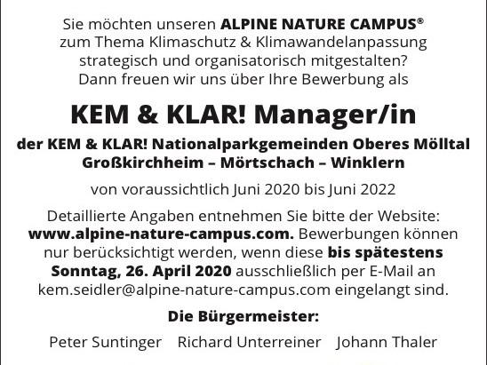 Trendwende im Mölltal! Attraktiver Arbeitsplatz zur Klimawende im Oberen Mölltal geschaffen.