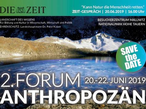 FORUM ANTHROPOZÄN 2019                             www.forum-anthropozaen.com