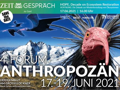 Save the Date! 4 . Forum Anthropozän