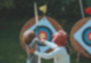 Mother & Child disparar flechas