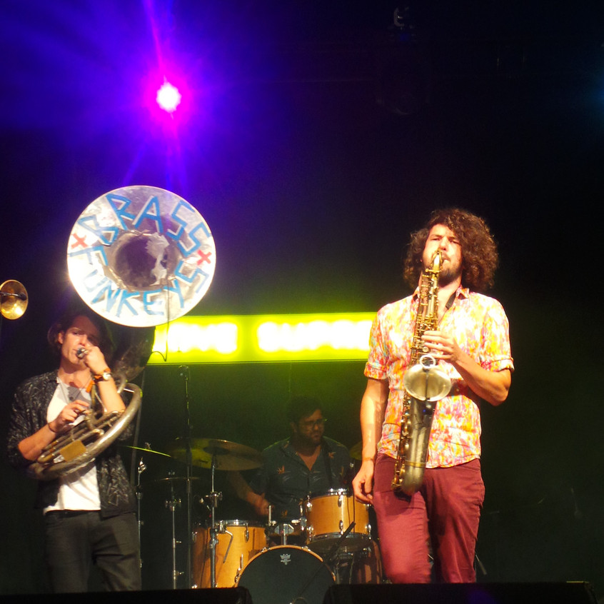 Whether performing a powerful amplified stage show or as a totally mobile marching band, the Brass Funkeys bring together some of the most talented musicians in London in an eclectic live show bursting at the seams with ideas and infectious energy.