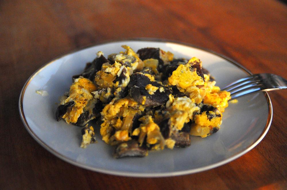 recept za gobe štorovke z jajci