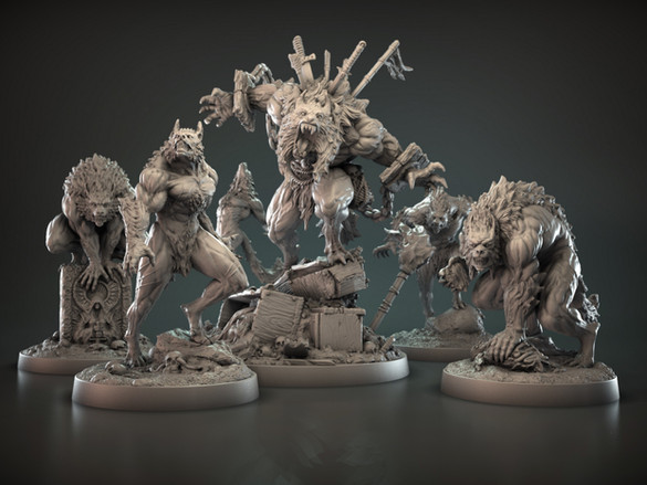 The Blood Moon Werewolves 32mm scale