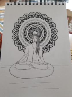 Meditation Artwork by Viveka