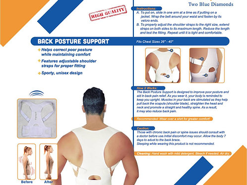 High Quality Adjustable Posture Support/Corrector Brace
