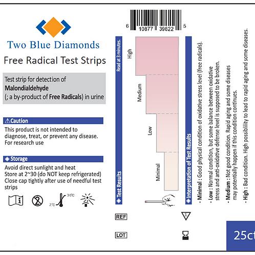 MDA/Free Radical Test Strips (25pk)