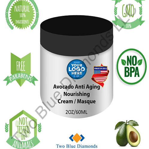2oz Avocado Anti Aging Nourishing Cream / Masque (Qty 500)