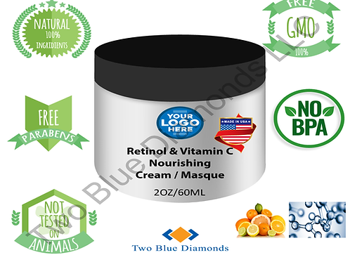 2oz Retinol & Vitamin C Nourishing Cream / Masque (Qty 100)