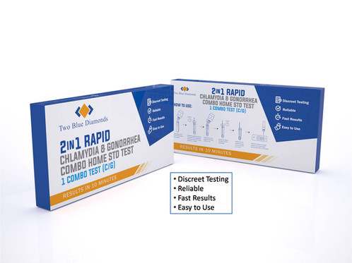 Combo Rapid At Home STD Test Kit (Chlamydia/Gonorreah) | Diet Drops | Glen  Carbon | Two Blue Diamonds LLC