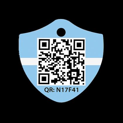 Pet-ID - QR Kodlu Madalyon, Mavi
